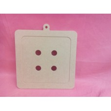 4mm MDF Button square shape